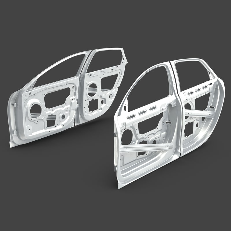 max car door frames rigged