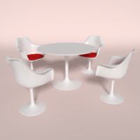 3d model of tulip chair table