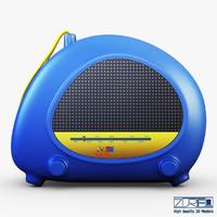 3d model kids radio toy
