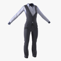 3d women suit 6 modeled