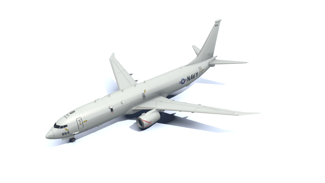 3d model navy p-8a poseidon