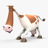 Cartoon Cow Rigged
