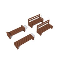 set benches 3d max