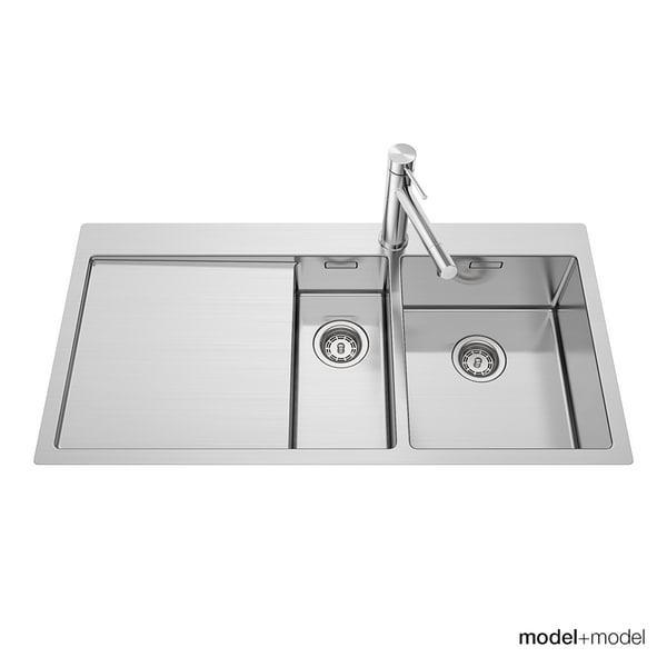 blanco claron sinks 3d model