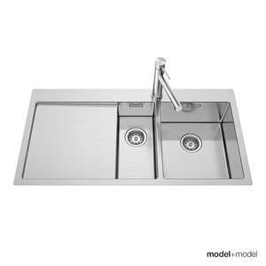 blanco claron sinks 3d model