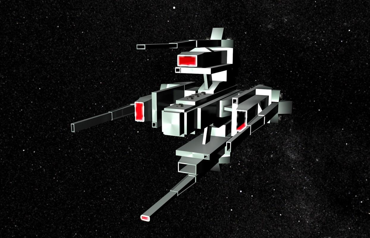 capitalship spacecraft 3d model