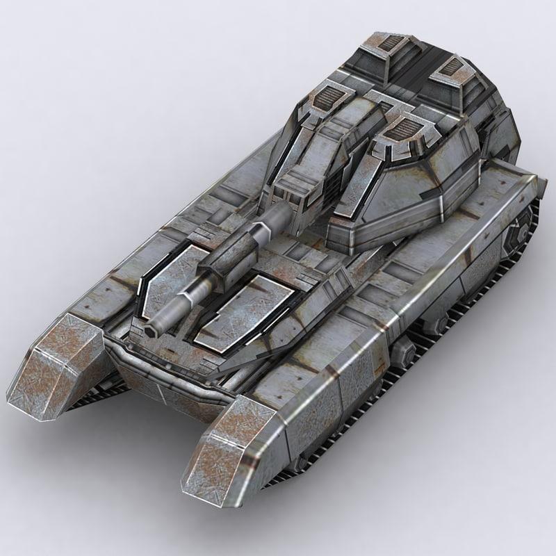 3ds max sci-fi tank