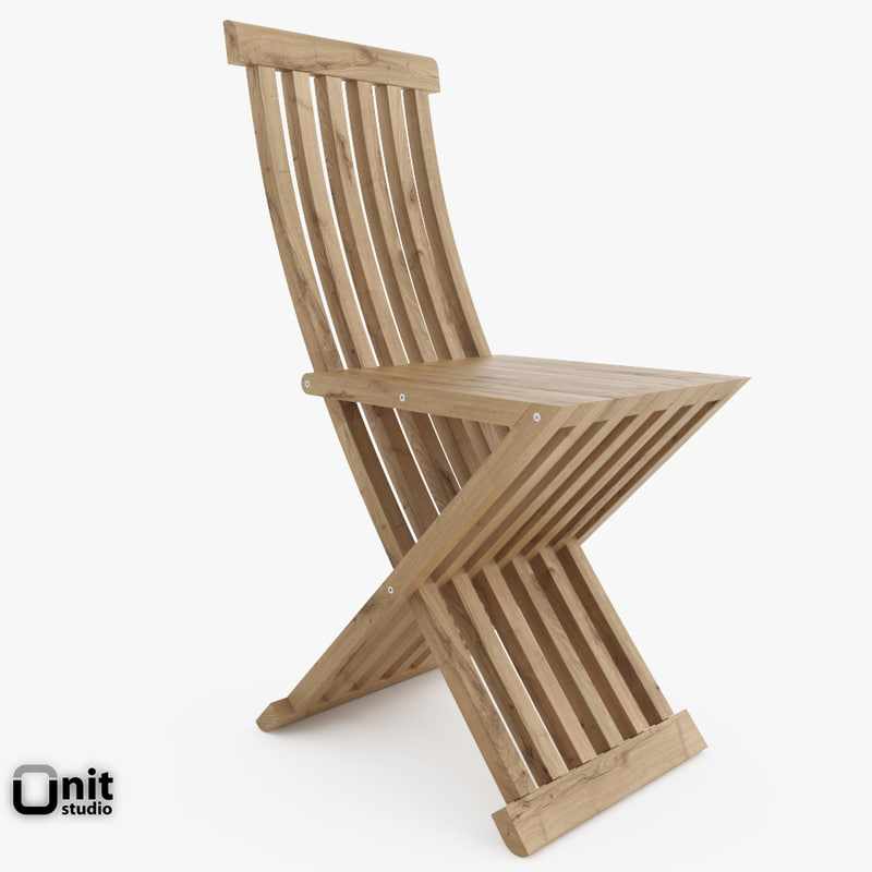 slatted chair cassina 3d max