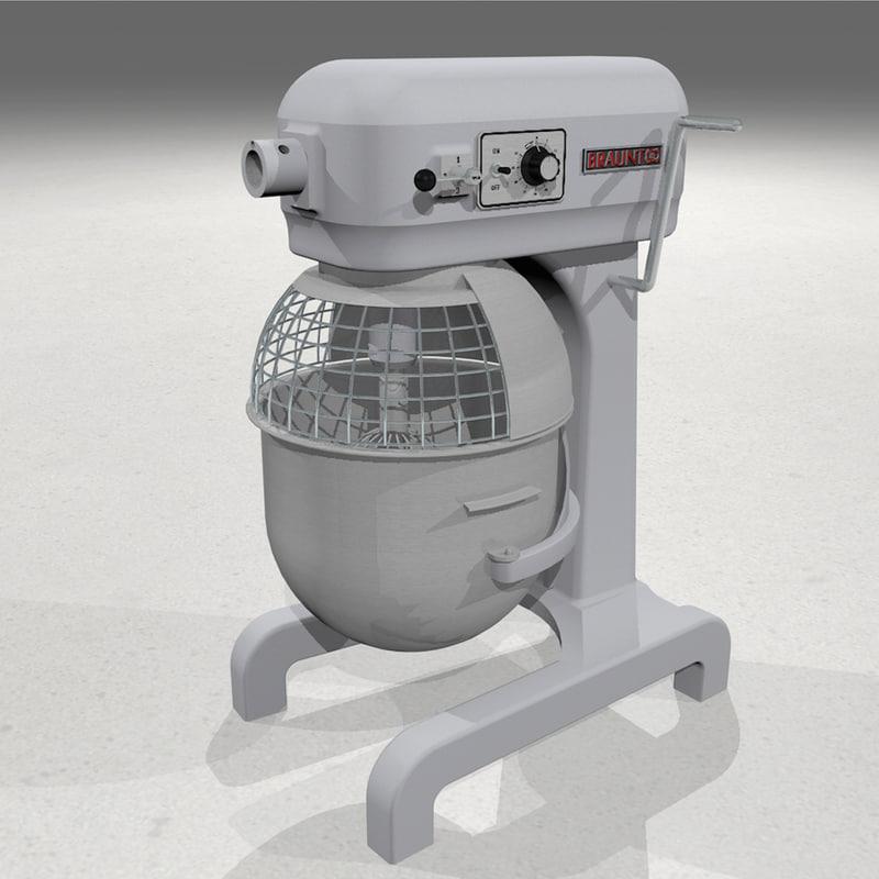 bowl mixer 3d model