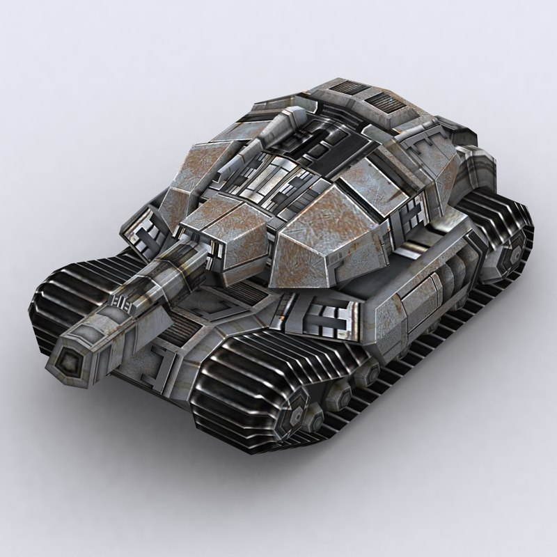 3d sci-fi tank