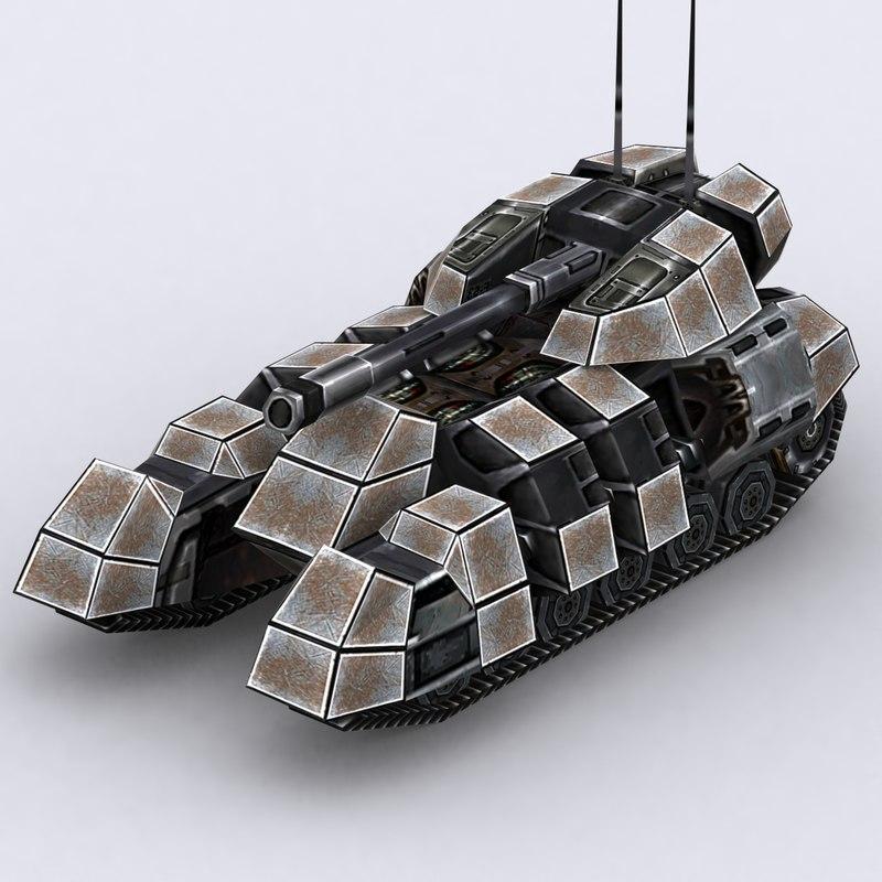 sci-fi tank 3d model
