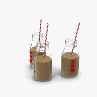 3d bottles milk