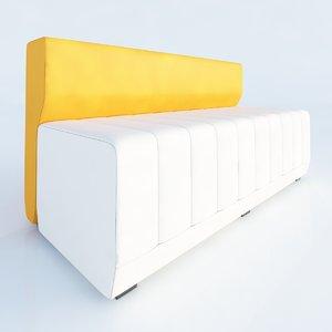 haven bench hab200belh allermuir 3d model
