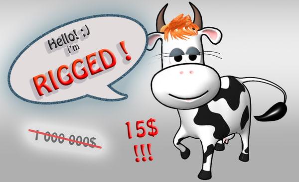 3ds max cartoon cow