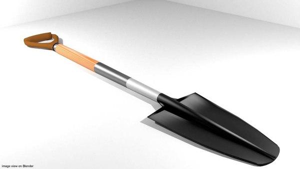 garden trowel tool 3ds