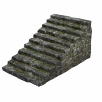 3d stone stairs model