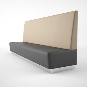 long dining bench 3d model