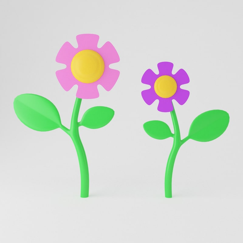 3ds max toon flower