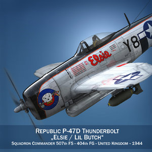 republic p-47 thunderbolt - obj