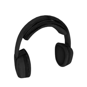 3d model of headphones phone