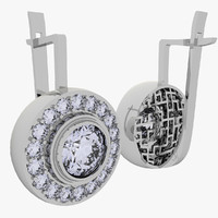 3d model 1 earrings art