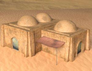 building tatooine 3d model