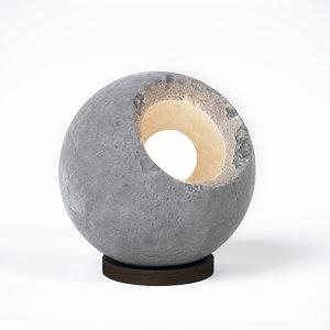 3ds max concrete lamp