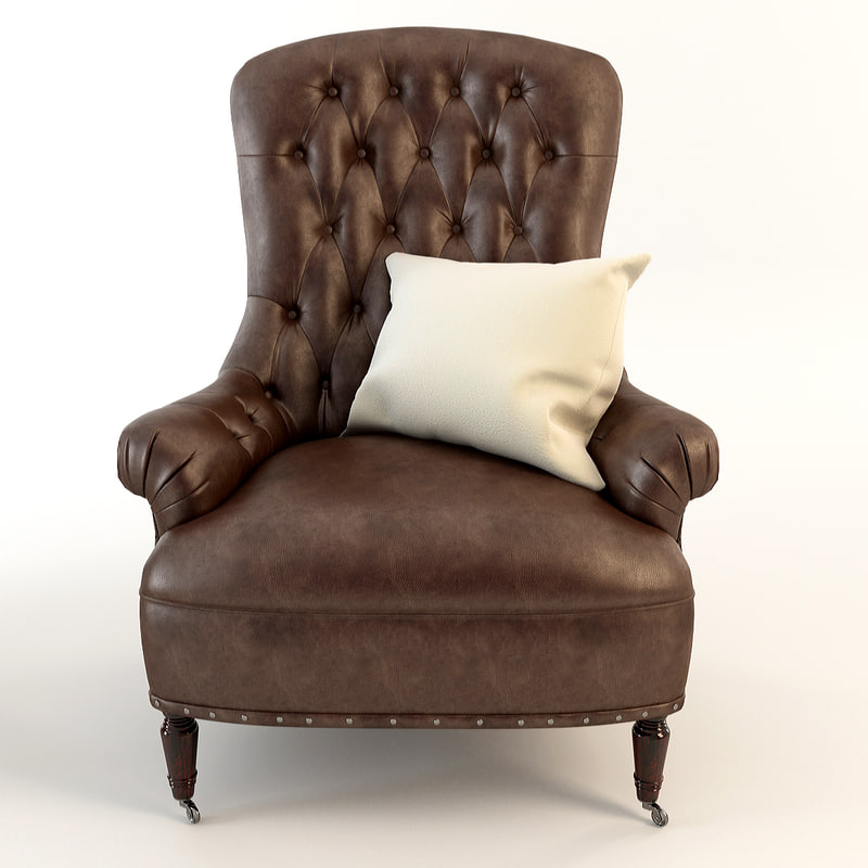 3ds max armchair tufted leather