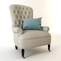 armchair cloth 3d max