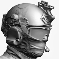 special force soldier zbrush 3ds