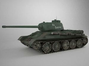 maya t-34-85 tank