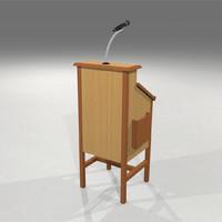 c4d podium mic microphone