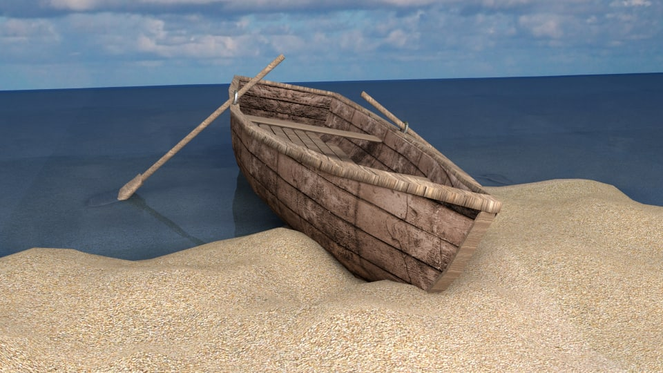 sailboat canoe 3d 3ds
