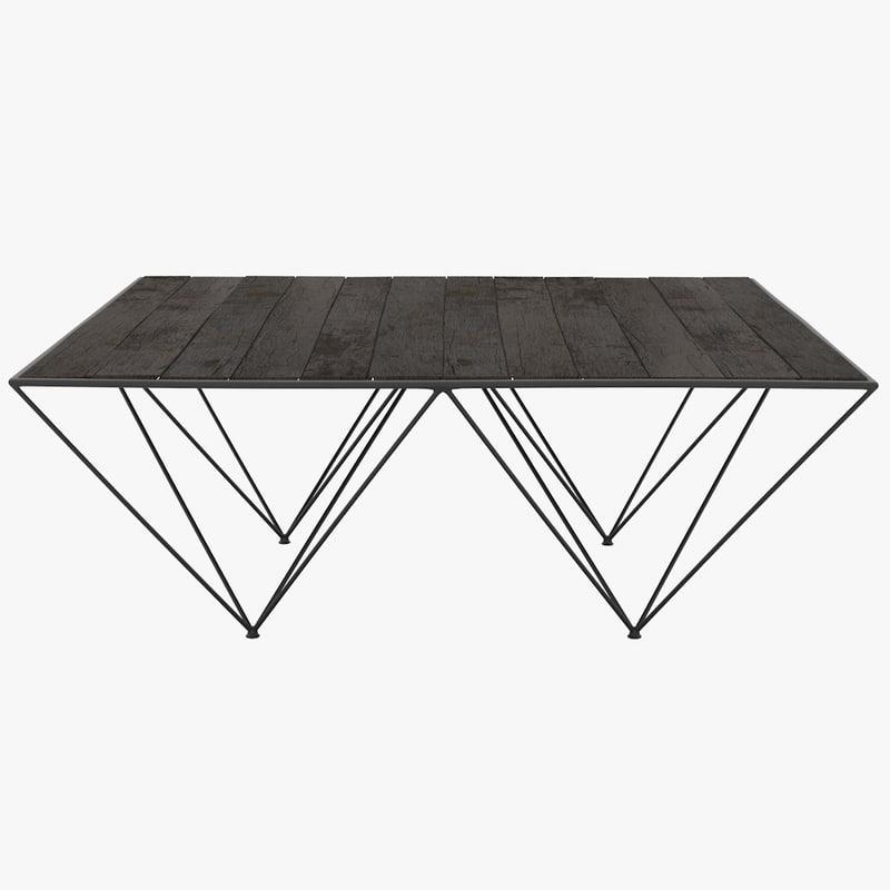 3d flamant coffee table avarta