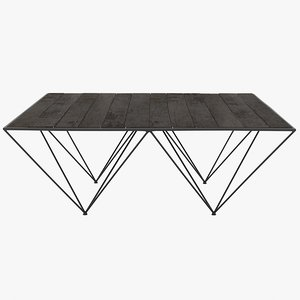 3d flamant coffee table avarta