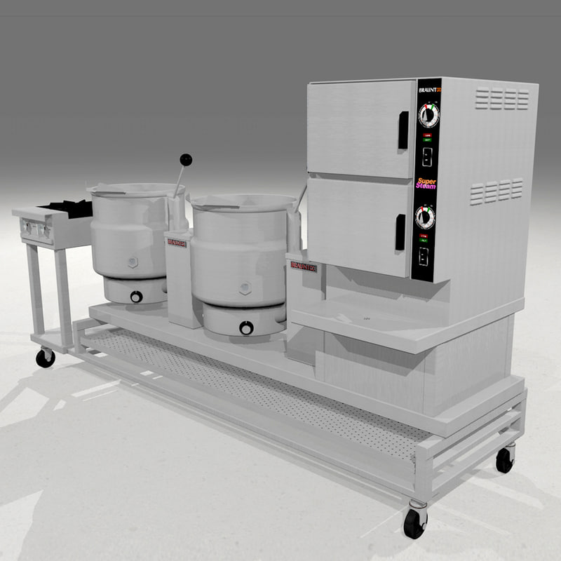 3d steamer kettles gas model