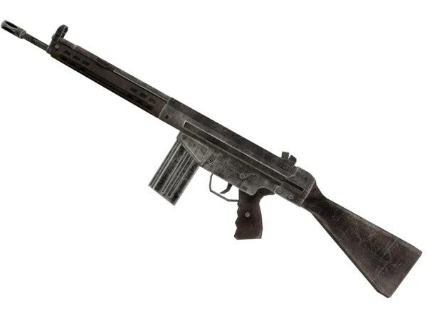 3d model ready g3 rifle