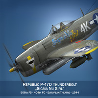 obj republic p-47 thunderbolt -