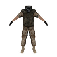 military uniform obj