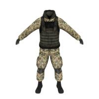 military uniform 3d max