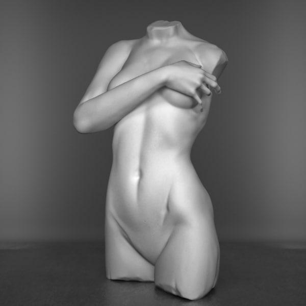 3d model decorative bust woman