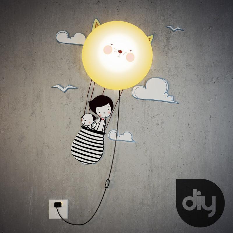 cat diy lamp 3ds