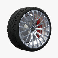 3d model advanti forza wheel