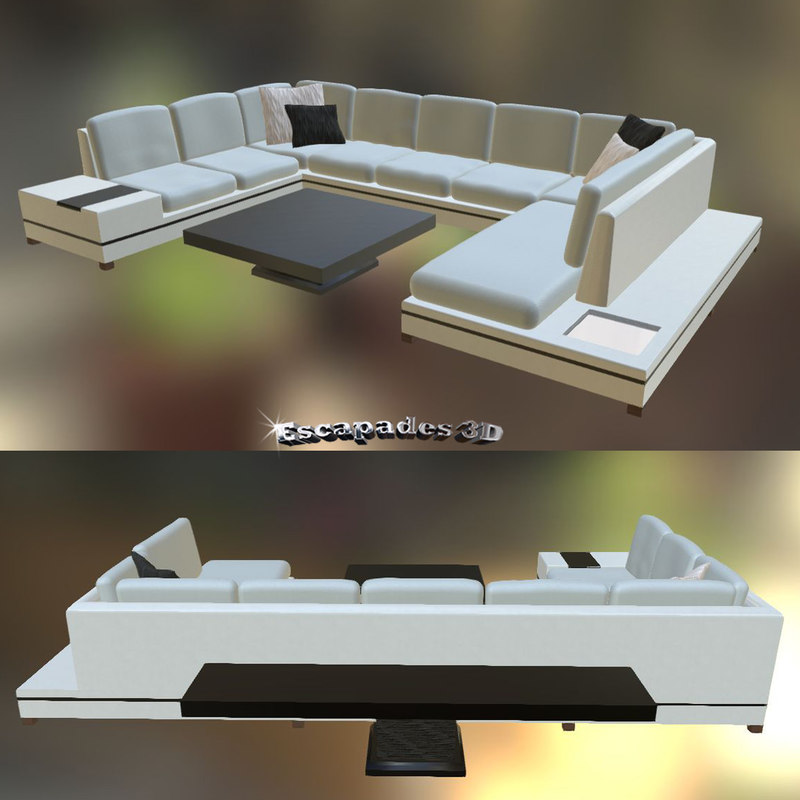 modern style couch tables 3d 3ds