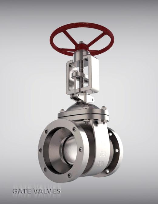 valve gate 3d max