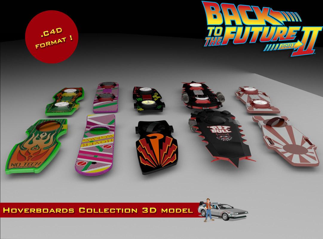 bttf hoverboards o 3d model