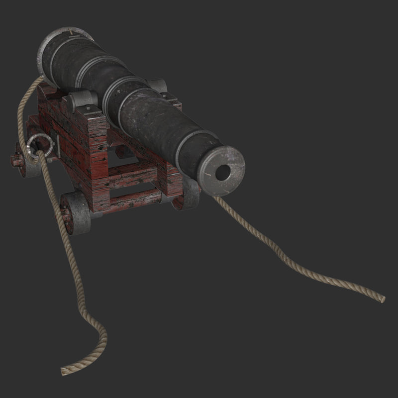 32 ship cannon 3d max