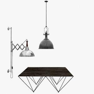 3d flamant hanging lamp soprano