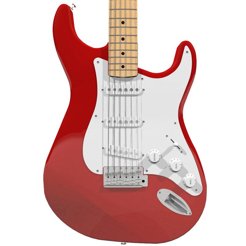 3d guitar fender strat model