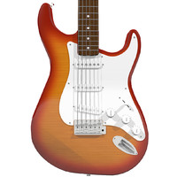 guitar fender strat 3d model